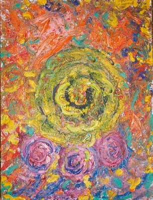 Spiral of life - Acrylic Painting